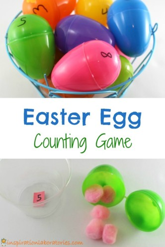 Our Easter Egg Counting Game is such a fun way to work on fine motor skills and numbers.