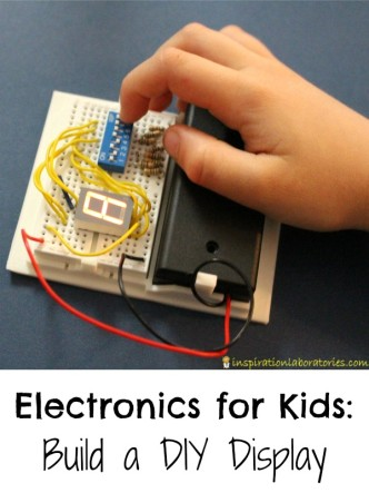 Making a DIY Display is a fun electronics project for kids