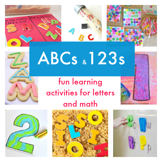 ABCs and 123s : fun learning activities for letters and math