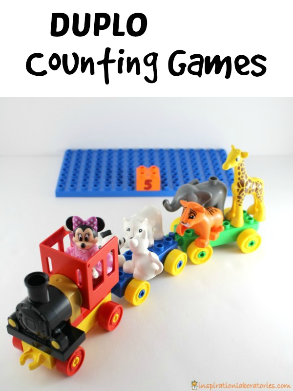 All aboard! Load up the DUPLO train to play fun counting games! Toddlers and Preschoolers will love this.