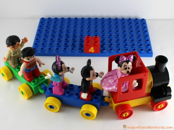 All aboard! Load up the DUPLO train to play a fun counting game.