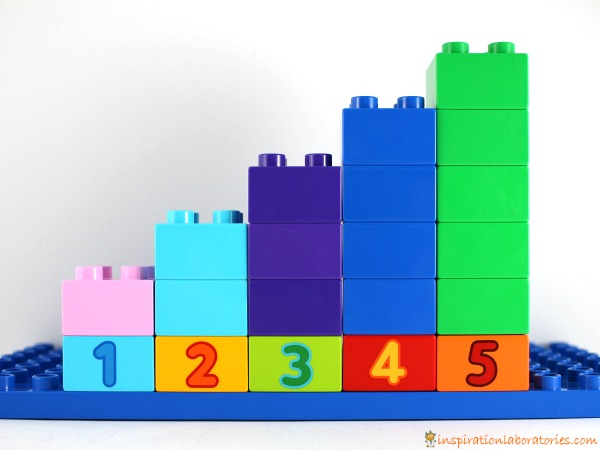Use DUPLO to practice counting and graphing.