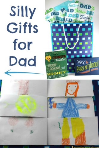 Silly Gifts for Dad sponsored by American Greetings - Make a mixed up daddy flip book, make a joke book, and make dad a silly hat. #CelebrateAmazingDads