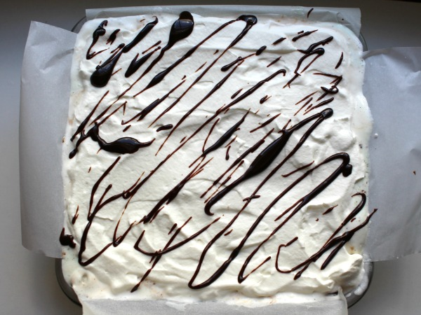 This Hot Fudge Brownie Ice Cream Cake sponsored by made with Blue Bunny® ice cream is delicious! #SoHoppinGood #TopYourSummer