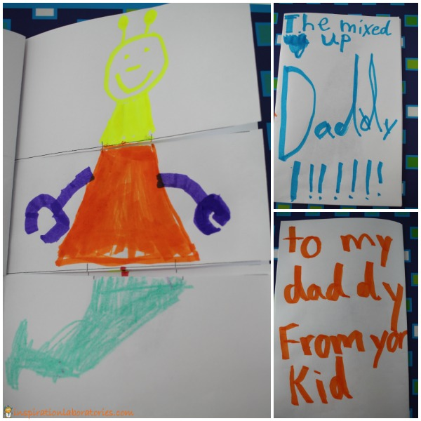 Make a mixed up daddy flip book for Father's Day.