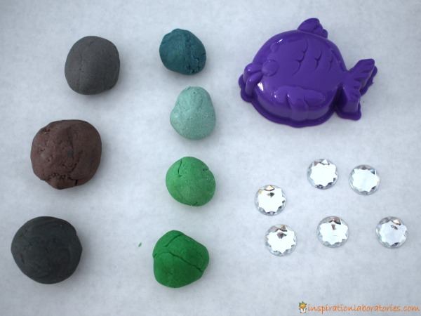 Set up an invitation to play with play dough.