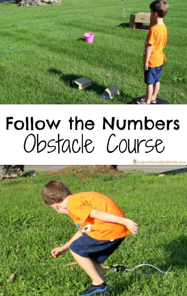 Follow the Numbers Obstacle Course - Try this easy to set up obstacle course for kids.