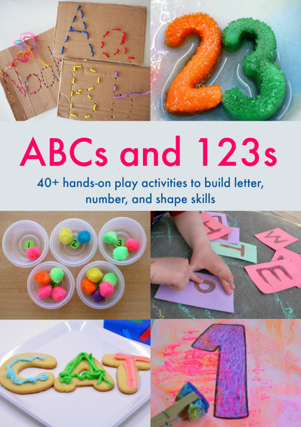 ABCs and 123s ebook - Get 40+ hands-on play activities to build letter, number, and shape skills