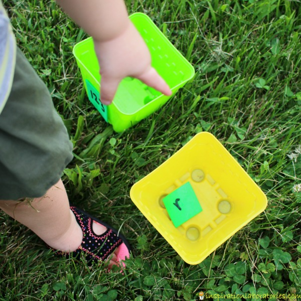 Practice literacy and math skills with a fun water game!