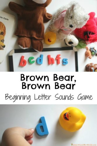 Practice letter recognition and letter sounds after reading Brown Bear, Brown Bear. Part of the Virtual Book Club for Kids. Check out more activities to go along with the book, too.