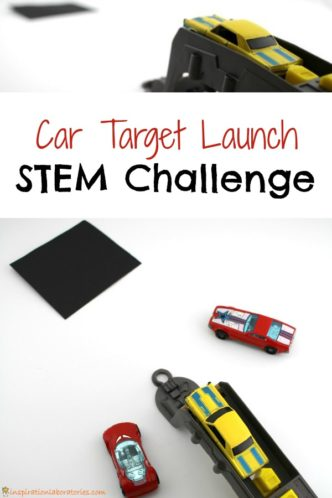 Set up a simple car target launch STEM challenge.