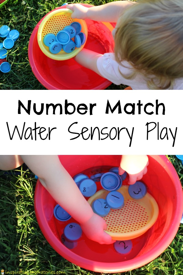 Head outside with this fun water sensory activity that practices number recognition and counting.