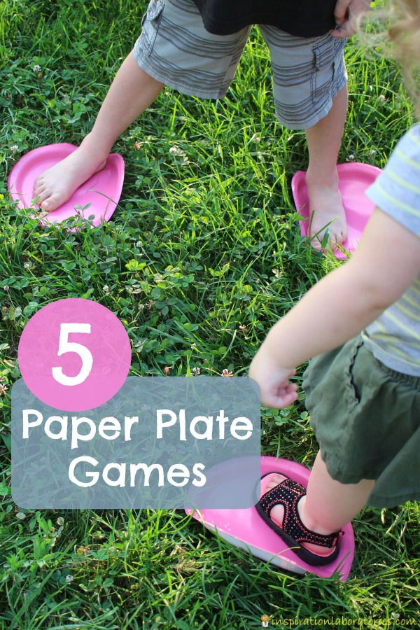 These paper plate games are a fun way to get kids moving!