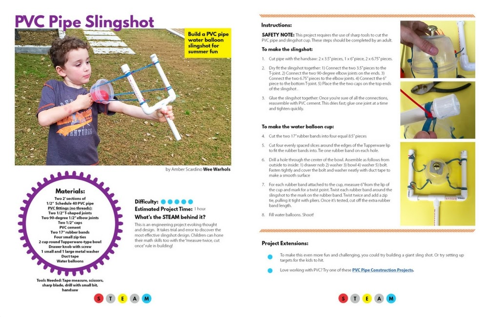 PVC Pipe slingshot from STEAM Kids
