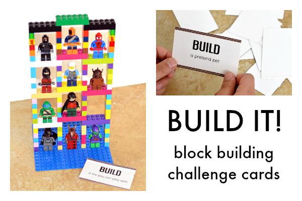 Up! block build challenge cards