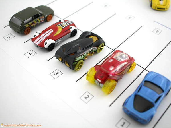Practice number recognition and counting with a fun car parking math game.