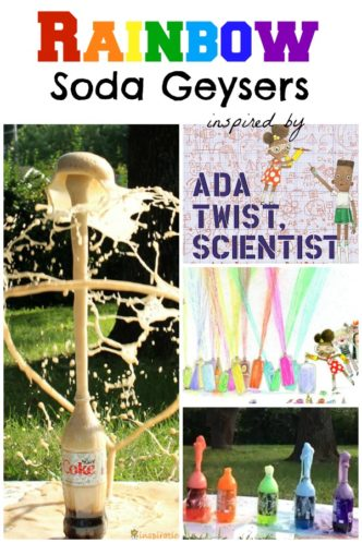Make rainbow soda geysers inspired by Ada Twist, Scientist.
