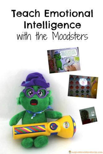 Teach emotional intelligence to preschoolers with the Moodster toys. This post is sponsored by the Moodsters.
