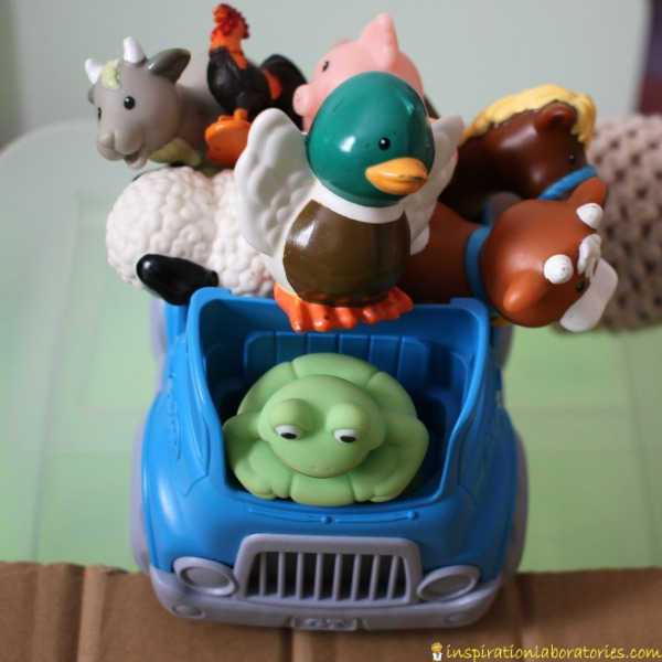 Let your little ones have farm animal races with Little Blue Truck.