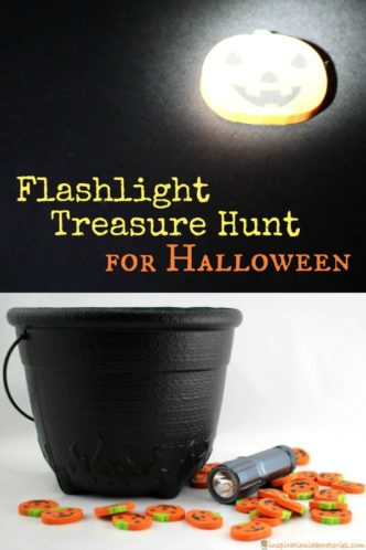 A Flashlight Treasure Hunt is a fun idea for Halloween.