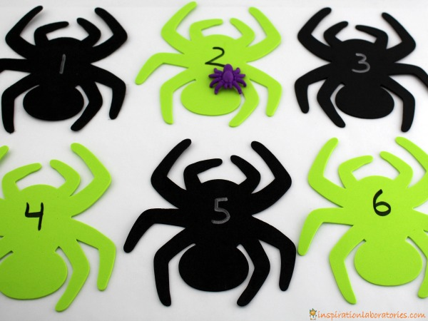 Toss a spider to practice number recognition.