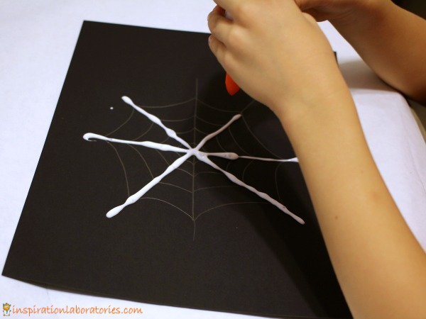 Combine art with science in this fizzy spider web art activity.