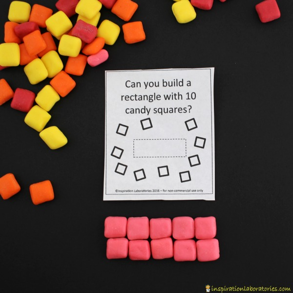 Use the candy building challenge cards for a fun STEM activity.