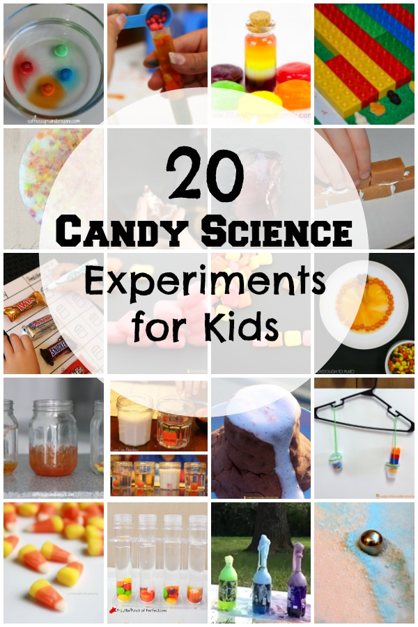 These candy science experiments for kids are perfect for using up that leftover Halloween candy.
