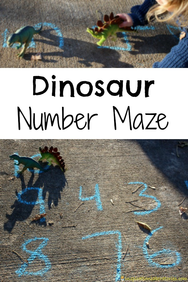Dino lovers will have fun learning numbers with a dinosaur number maze.
