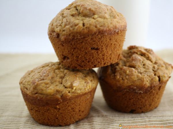 These cinnamon spiced pumpkin muffins are an easy kid-friendly recipe. Make a batch to share with friends and neighbors.