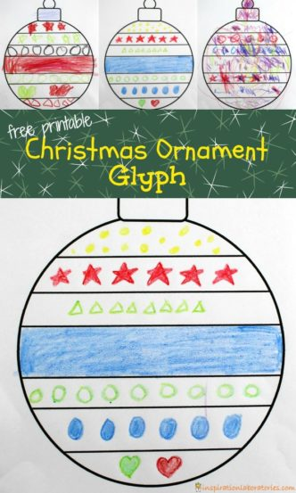 Make a Christmas Ornament Glyph. Practice following directions and use the secret code to decorate your own Christmas ornament.
