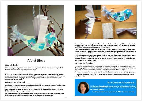 Make Your Mark sample page Word Birds