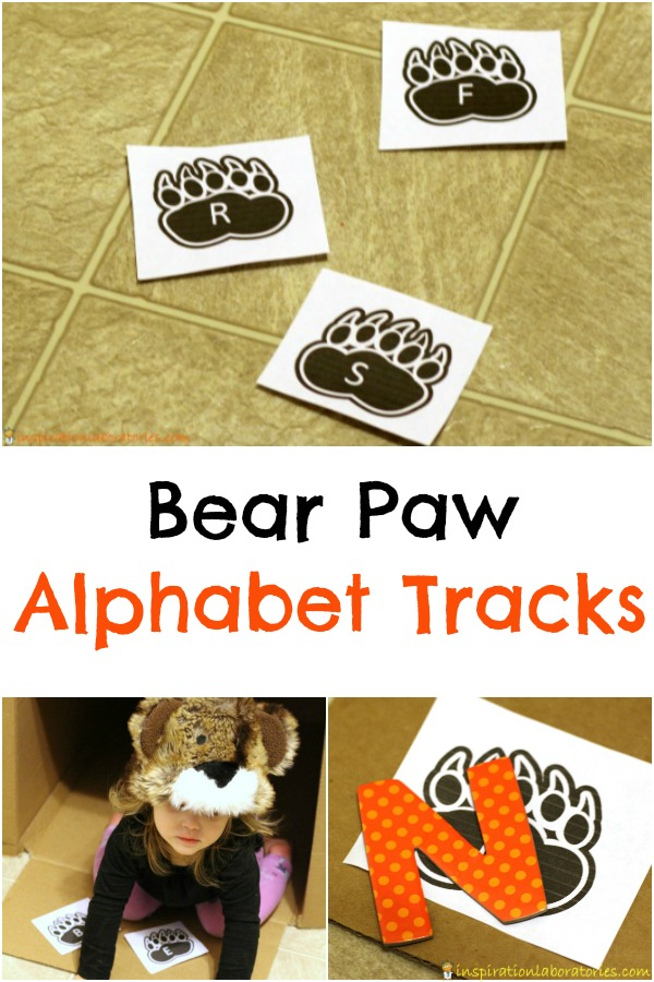 Bear Paw Alphabet Tracks are a fun way to practice letter recognition, letter sounds, and more.