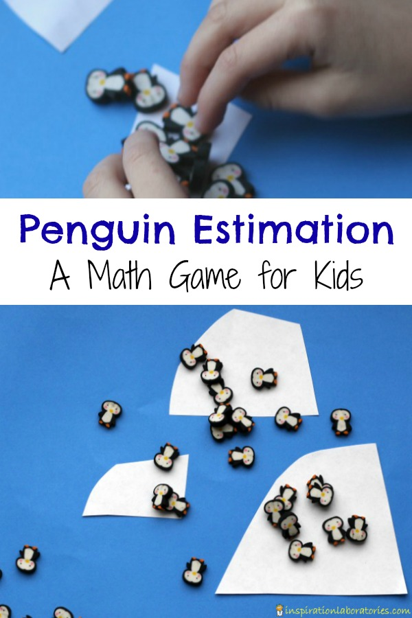 Penguin estimation game - a hands-on math activity to build number sense while practicing estimation, subitizing, and counting.