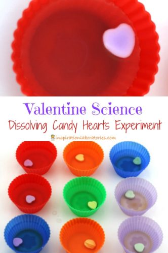 Design an experiment to see which candy hearts will dissolve first.