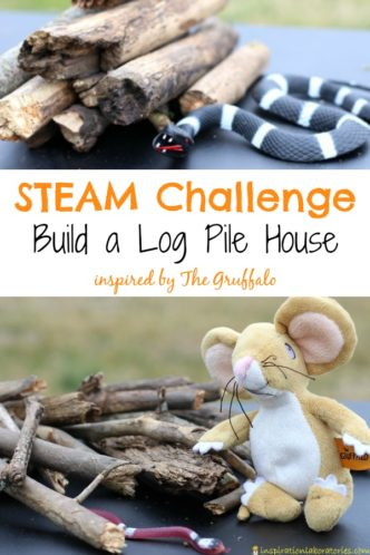 Set up a STEAM Building Challenge inspired by The Gruffalo by Julia Donaldson