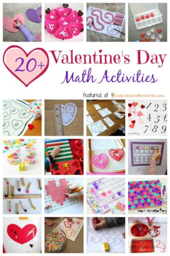 Valentine's Day math activities for preschool and elementary