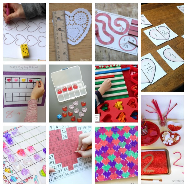Valentine's Day math activities for elementary school