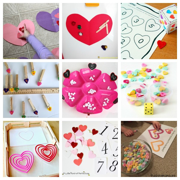 Valentine's Day math activities for preschool