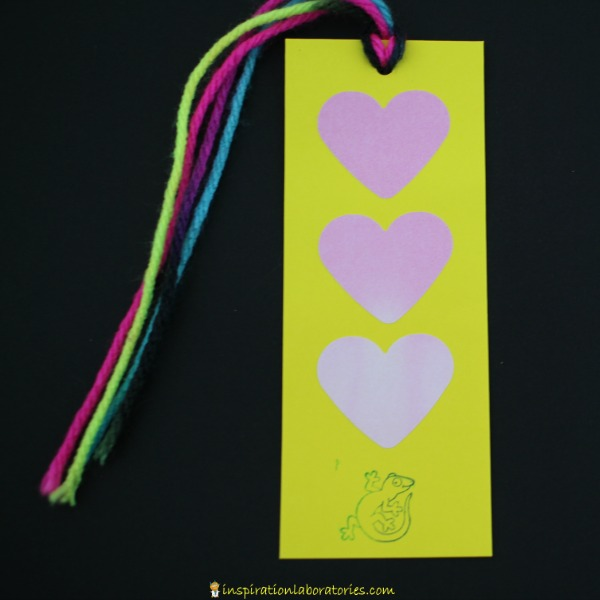 Add a little science to your valentines with our Color Changing Heart Bookmarks. The warmth of your hand changes the color of the hearts. Such a fun idea for Valentine's Day.