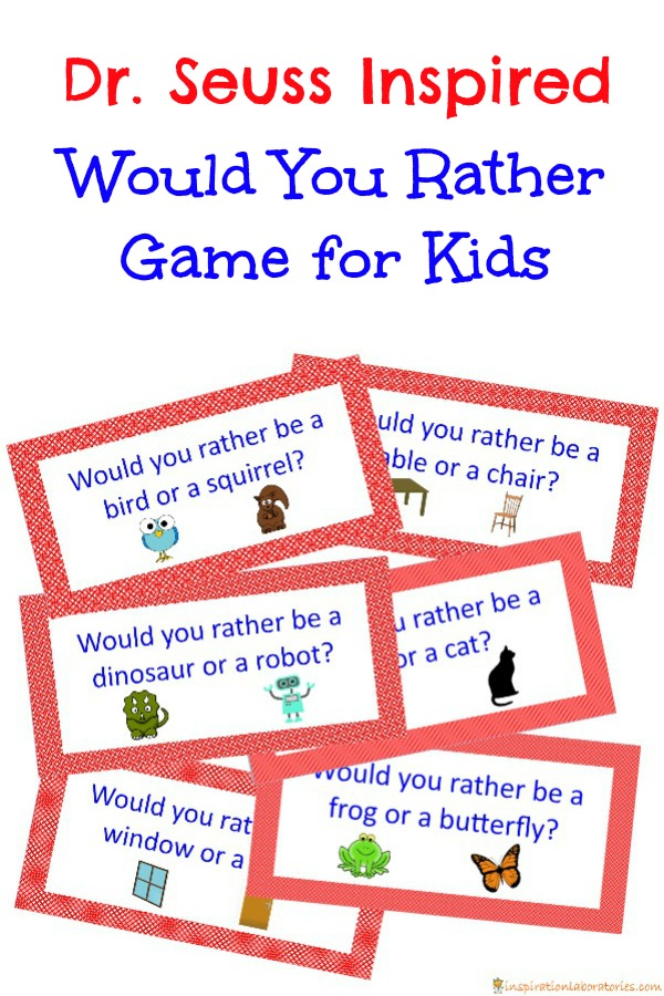 Play a family friendly Would You Rather game inspired by Dr. Seuss