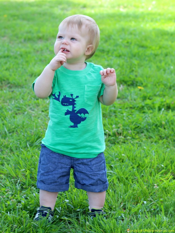 Freezer paper stencil dragon shirt