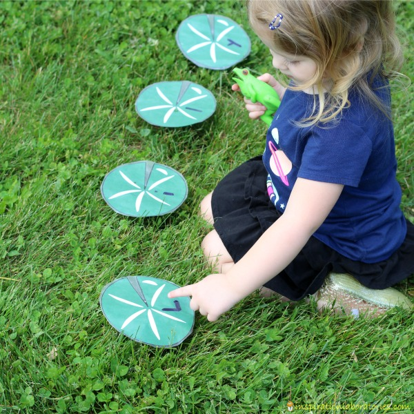 Name Jumping - download the free lily pad printable