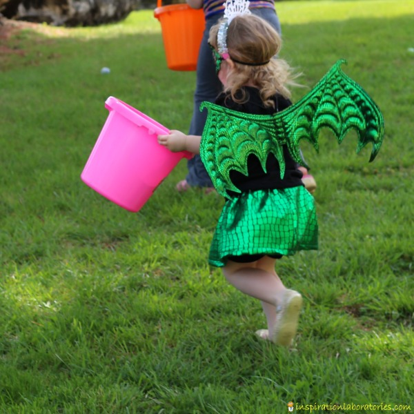A dragon egg hunt is a great activity for a dragon birthday party.