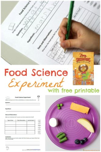 Food Science Experiment - Let your children design a food experiment to find out what foods they like to eat. It's a fun way to try new foods and learn about conducting a science experiment.
