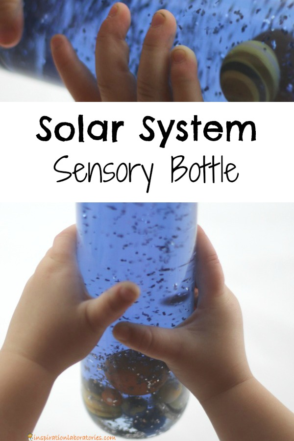 Make a solar system sensory bottle to learn about the planets. Inspired by How to Catch a Star by Oliver Jeffers. More space themed activity ideas for kids in the post.