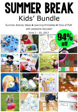 Summer Break Kids' Bundle - includes over 40 ebooks and printable resources full of kids' activities and learning ideas. Perfect for summer camp at home or to combat summer slide.