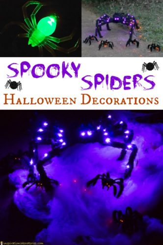 Spooky Spiders Halloween Decorations sponsored by #AtHomeStores