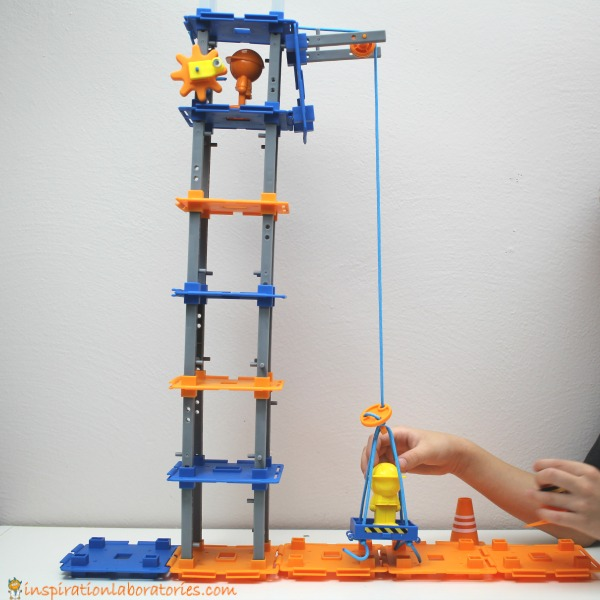 Build a crane with the City Engineering and Design Building Set from Learning Resources