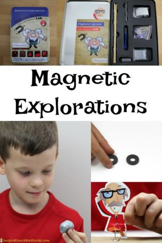 Try these fun magnet explorations at home with your kids.